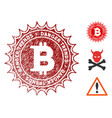 bitcoin danger trends watermark with grunge style vector image vector image