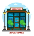 Book store or shop for paper reading outdoor view vector image