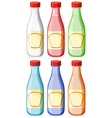 Bottle with lable vector image vector image
