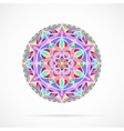Bright Color Mandala over white vector image vector image