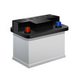 car battery on a white 3d isometric view vector image