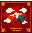 Chinese New Year of Rooster greeting card design vector image vector image
