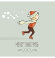 Christmas Happy Kid vector image