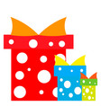 christmas presents blue and red vector image vector image