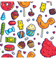 colorful candies seamless pattern vector image vector image