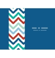 Colorful ikat chevron horizontal border seamless vector image vector image