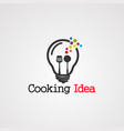 cooking idea logo icon element and template for vector image vector image