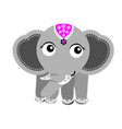 cute elephant on white background vector image