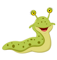 Cute slug cartoon vector image vector image