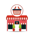 cute store shopping basket buy vector image vector image
