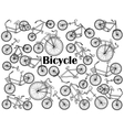 Cycle colorless set vector image vector image