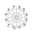 cycle of changing the signs of the zodiac vector image