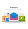 e-learning flat design concept vector image