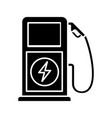 electric vehicle charging station glyph icon vector image vector image