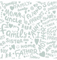 family seamless pattern for your design vector image vector image
