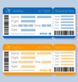 flat desipn airticket template vector image vector image