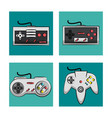 gamepads technology icons vector image vector image