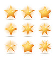 gold stars icons set vector image