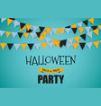 halloween party background template vector image vector image
