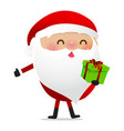 happy christmas character santa claus cartoon 025 vector image vector image