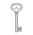 Key isolated on white background vector image vector image