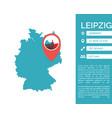 Leipzig map infographic