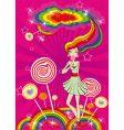 lolly pop girl vector image