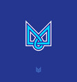 m monogram or logo vector image