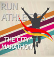 marathon runner event icon stock material vector image