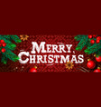 merry christmas christmas poster greeting card vector image vector image