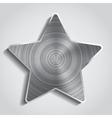 Metal star background vector image vector image
