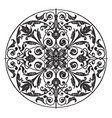 modern circular panel is a silver plaque design vector image vector image