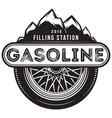 monochrome template for gas station vector image vector image