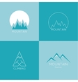 Mountains in box vector image