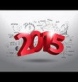 New year 2015 three dimensional vector image vector image