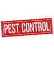 pest control sign or stamp vector image