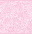 pink flowers texture pattern vector image vector image