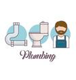 plumbing service design vector image vector image