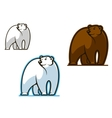 Polar and brown bear vector | Price: 1 Credit (USD $1)