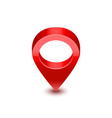 realistic detailed 3d red map pointer pin vector image vector image