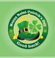 saint patricks day design boot with gold coins vector image