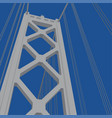 san francisco - oakland bay bridge tower vector image vector image