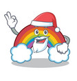 Santa colorful rainbow character cartoon vector image
