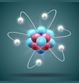 science atom vector image vector image