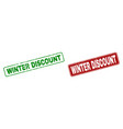 scratched winter discount rubber prints with vector image vector image