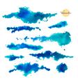 set abstract watercolor spots vector image