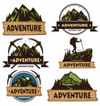 set camping logos templates design vector image vector image