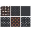 set dark seamless marine pattern vector image vector image