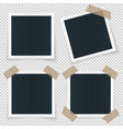 set of 4 different image frames with shadow vector image vector image