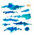 Set of abstract watercolor spots vector image vector image